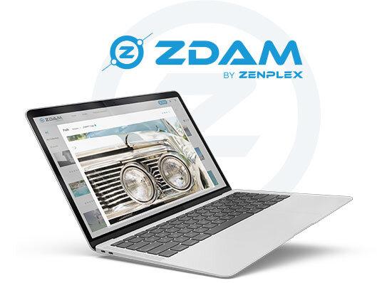 ZDAM Digital Asset Management Open Laptop DYNAMIC ASSET MANAGEMENT
